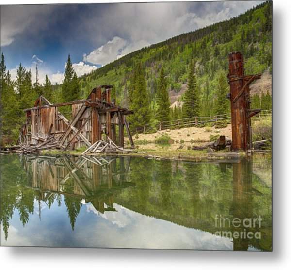 Reiling Dredge Reflection  Metal Print