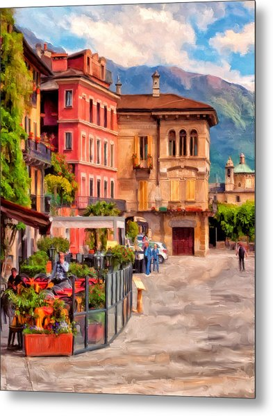 Relaxing In Baveno Metal Print