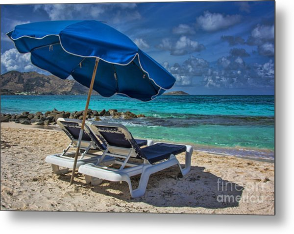Relaxing In St Maarten Metal Print