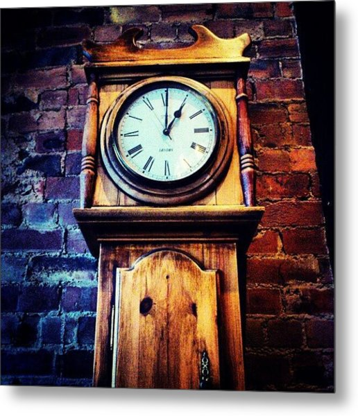 Relaxing Sunday Afternoon #clock Metal Print