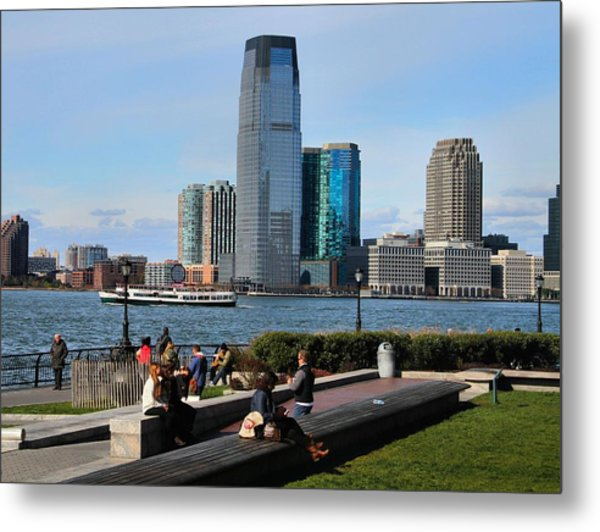 Relaxing Weekend On New York Harbor Metal Print