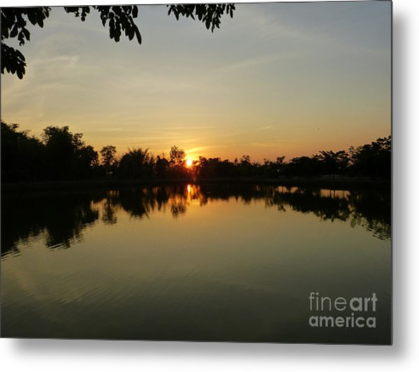 Reflections At Dusk Metal Print