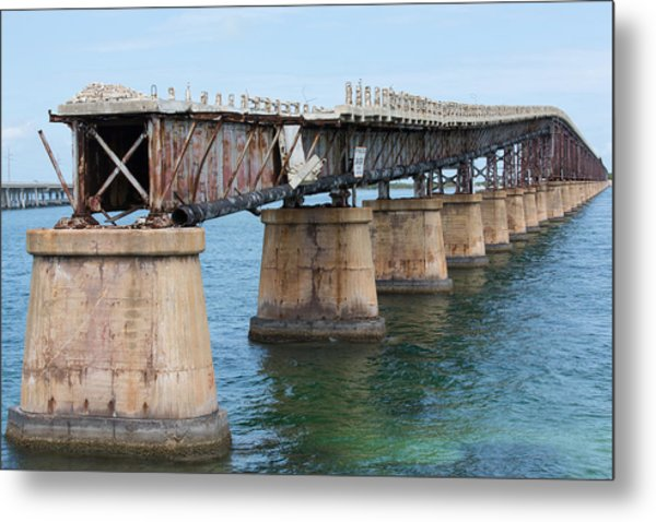 Relic Of The Old Florida Keys Overseas Railroad Metal Print