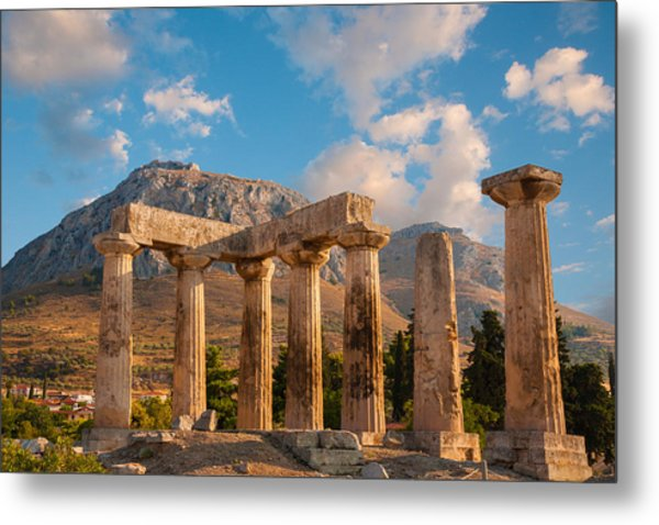 Remains Of Apollo Temple Metal Print