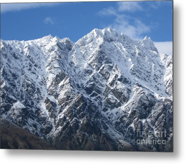 Remarkables Mountains  Metal Print by  Lines