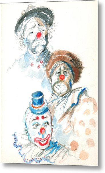 Remember The Clowns Metal Print
