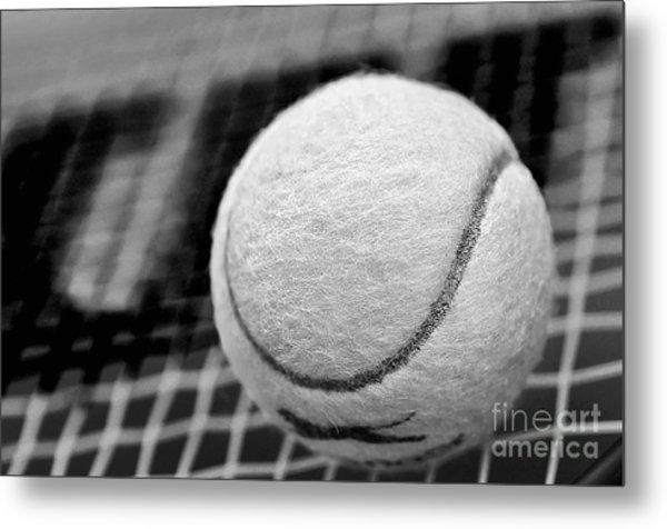 Remember The White Tennis Ball Metal Print
