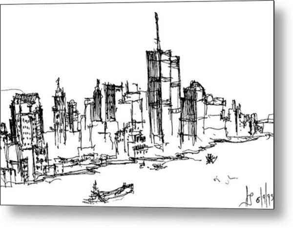 Remember World Trade Center Metal Print
