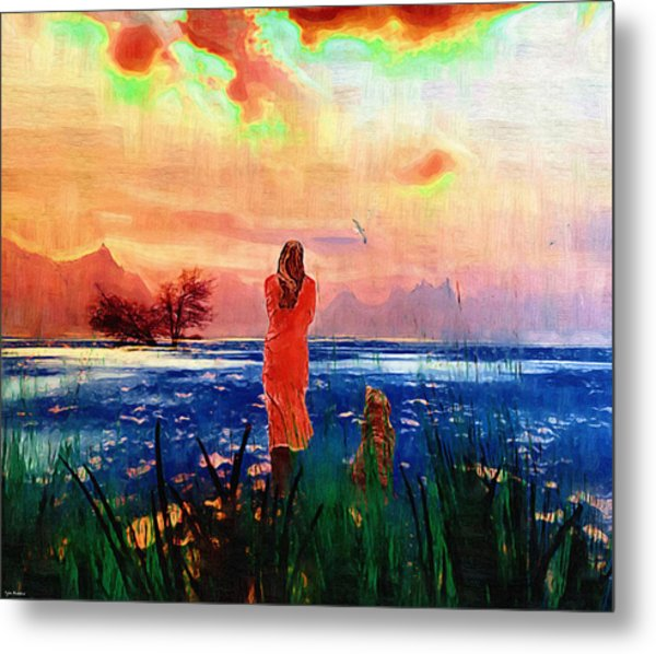 Remembering A Past Farewell. Metal Print