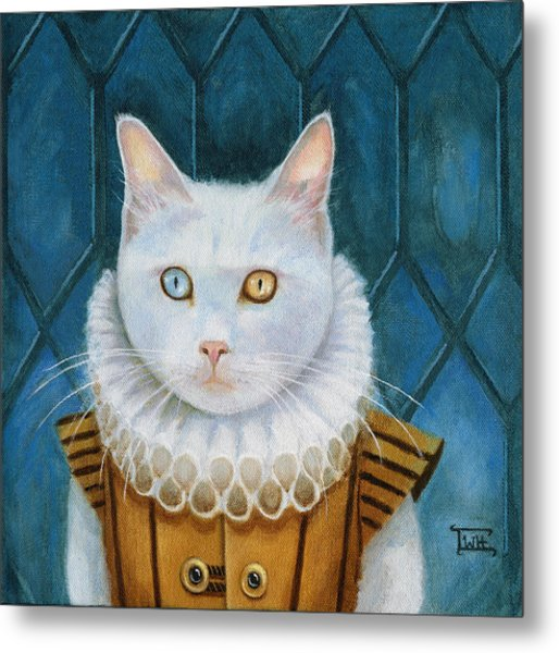 Renaissance Cat Metal Print