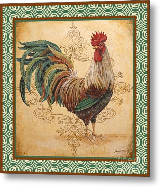 Renaissance Rooster-d-green Metal Print