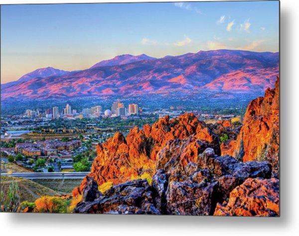 Reno Nevada Sunrise Metal Print