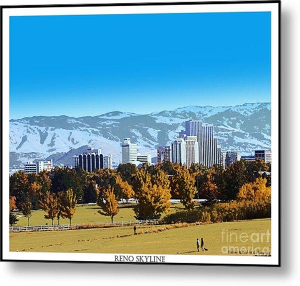 Reno Skyline From Rancho San Rafael Metal Print