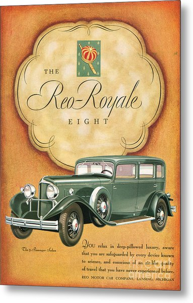 Reo Royale 1931 1930s Usa Cc Cars Metal Print by The Advertising Archives