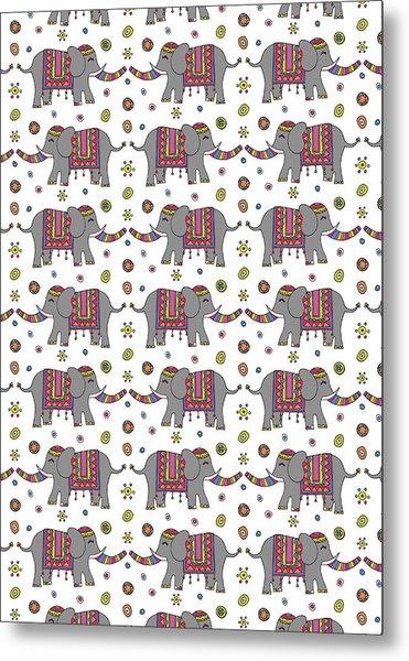 Repeat Print - Indian Elephant Metal Print