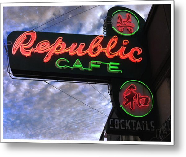 Republic Cafe Metal Print by Gail Lawnicki