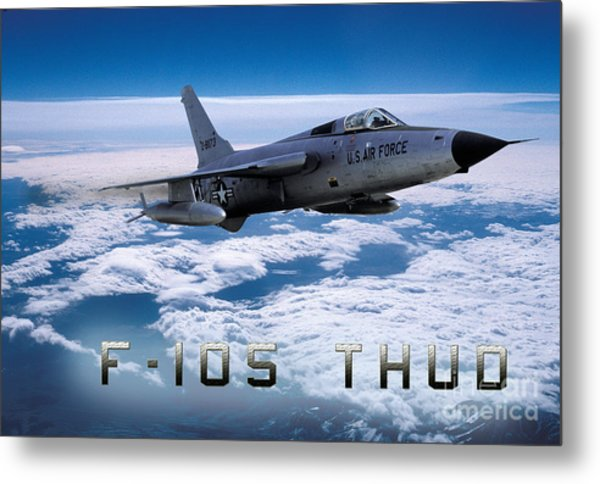 Republic F-105 Thunderchief Metal Print