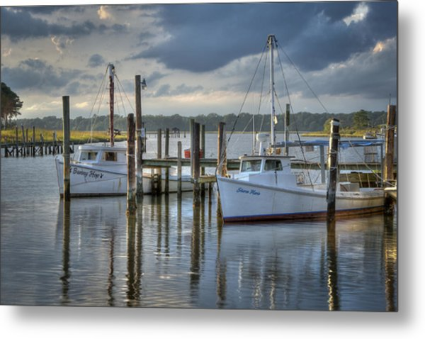 Rescue Fishing Boats Metal Print by Williams-Cairns Photography LLC