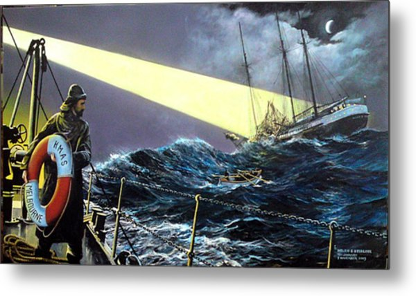 Rescue Of The Helen B.  Sterling 1922 Metal Print