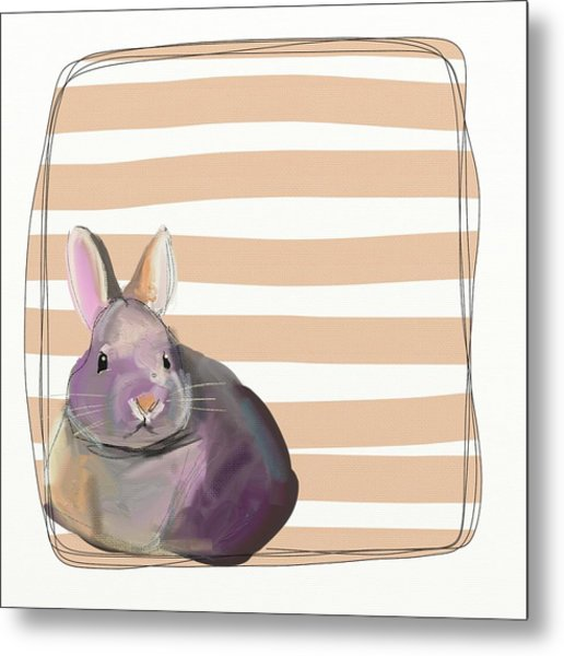 Rescued Bunny Metal Print