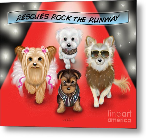 Rescues Rock The Runway Metal Print