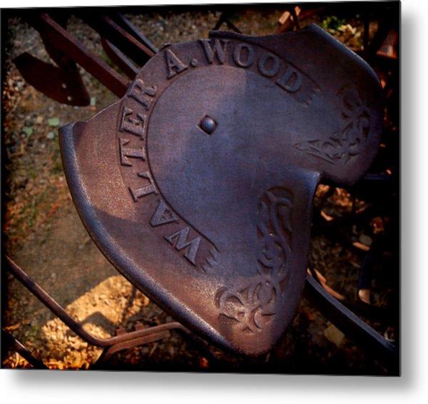 Reservered Seating - Vintage Plow Seat Metal Print