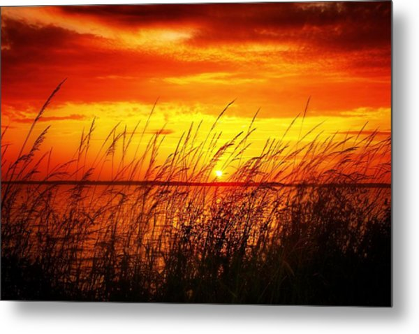 Reservoir Sunset 3 Metal Print