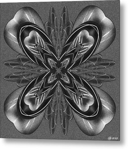 Resist The Flow Tile Print Metal Print