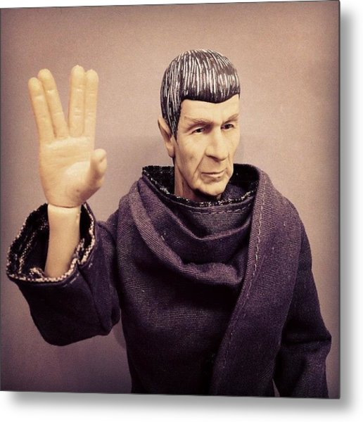 Rest In Peace, #spock... You'll Be Metal Print
