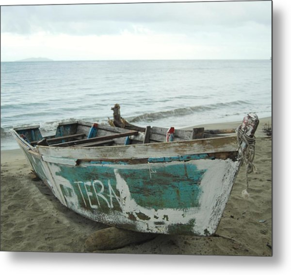 Resting Fishing Boat Metal Print