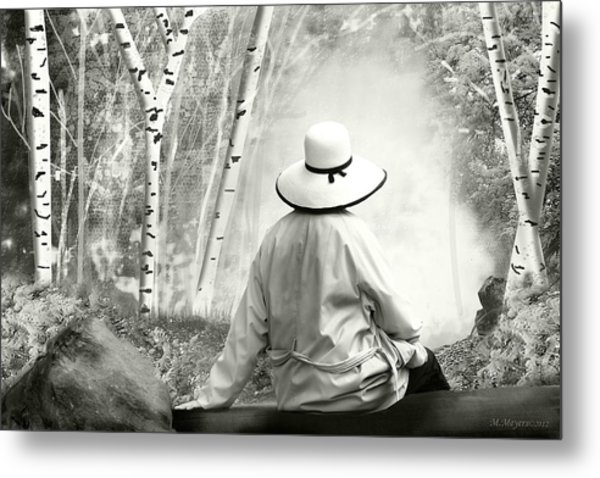 Resting Place - B/w Metal Print by Melisa Meyers
