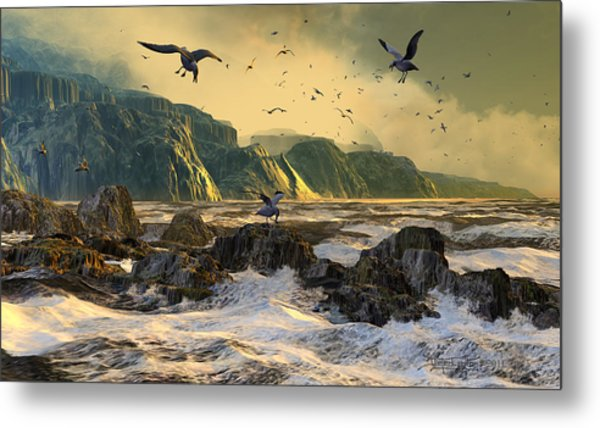 Restless Is The Sea Metal Print