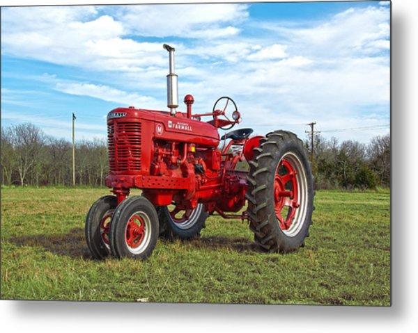 Restored Farmall Tractor Metal Print