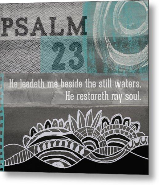 Restoreth My Soul- Contemporary Christian Art Metal Print
