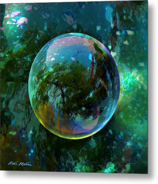 Reticulated Dream Orb Metal Print