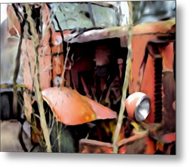 Retired And Forgotten Metal Print