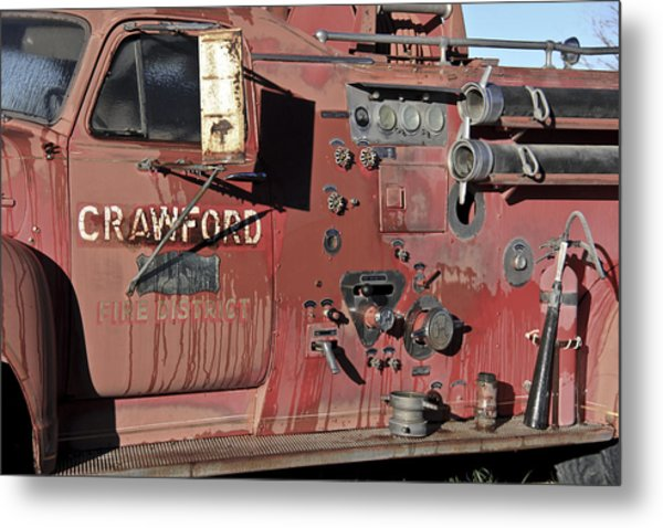 Retired Red Metal Print