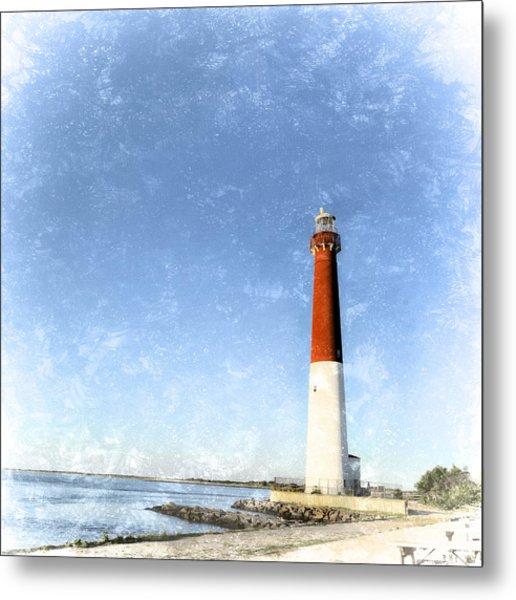 Retro Barnegat Lighthouse Barnegat Light New Jersey Metal Print