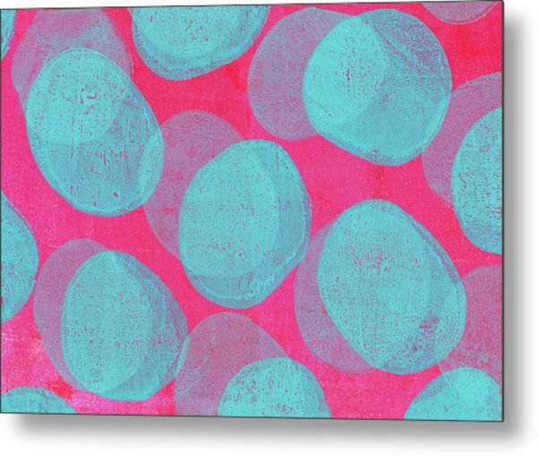 Retro Handmade Background With Pink And Metal Print