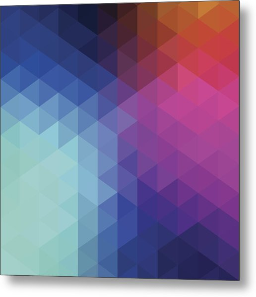 Retro Hexagon Abstract Background Metal Print by Mustafahacalaki
