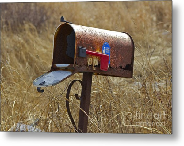 Return To Sender Metal Print