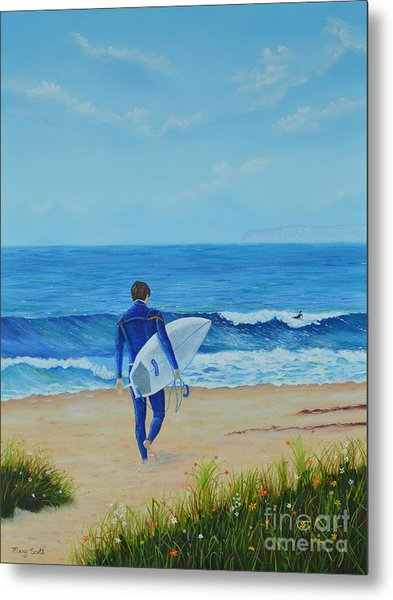 Returning To The Waves Metal Print