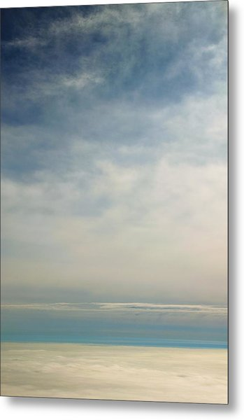 Rhapsody In Blue And White Metal Print