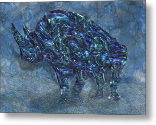 Rhino 6 Metal Print