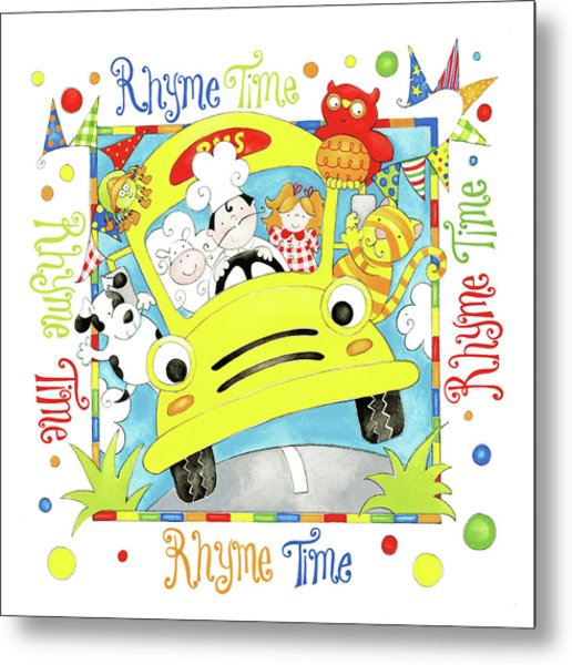Rhyme Time Metal Print