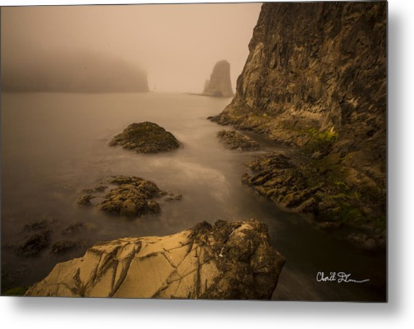Rialto Beach Rocks Metal Print