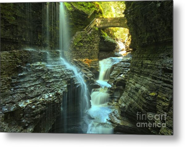 Rainbow Falls Watkins Glen Metal Print