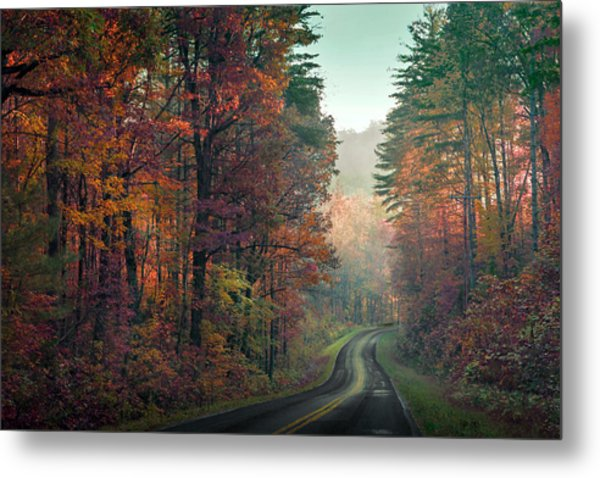 Ribbon Road Metal Print by William Schmid