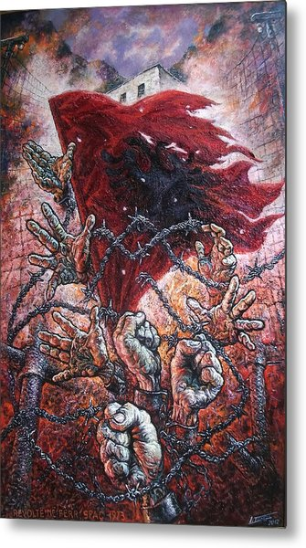 Ribellion On Infern Metal Print by Lazar Taci