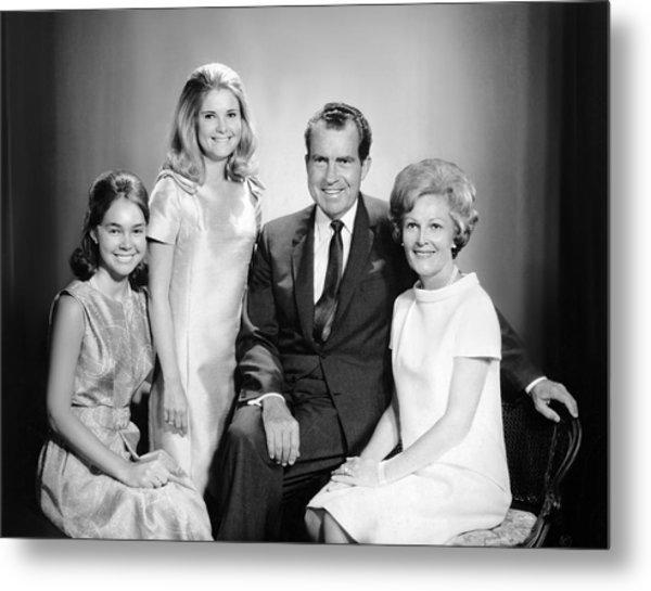 Richard Nixon And Family Metal Print